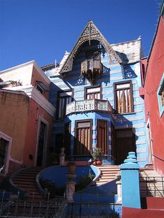 Casa de las Brujas (The House of the Witches) in Guanajuato, Mexico. It is said to be haunted by the ghost of a girl who was supposedly found beaten and starved to death in the cellar. Appearances, sounds, and cold spots have all been discovered here.