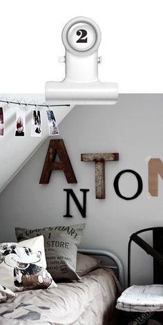 Stoere letters aan de muur, in vorm van je naam!