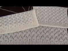 Dowry Bridal Vest Making - gelin yelekleri Baby Knitting Patterns, Knitting Stitches, Knitting Designs, Hand Knitting, Crochet Patterns, Fingerless Gloves Knitted, Knit Mittens, Knitted Hats, Brick Stitch