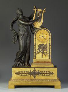 Fine French Neoclassical Bronze & Gilt Bronze Clock   Cottone Auctions