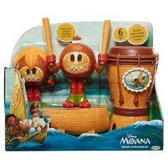 """""""Moana,"""" is a sweeping adventure about a spirited teenager who sails out on a daring mission to save her people, and along the way finds herself, fulfills her ancestors' unfinished quest, and becomes a master wayfinder.<br><br>Create your own music with this 6- piece instrument set! Moana's Percussion set includes Polynesian-inspired musical instruments and two """"Kakamora"""" that are maracas. Kakamora can also hold the drum ..."""