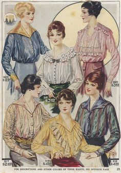 1917 ad for blouses.