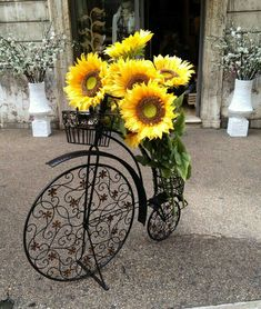Sunshine on Wheels Sunflower Quotes, Sunflower Pictures, Sunflower Art, Sunflower Fields, Happy Flowers, Beautiful Flowers, Sun Flowers, My Flower, Flower Power