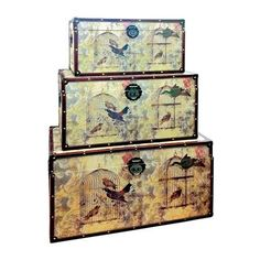 Set of 3 Birdcage Trunks