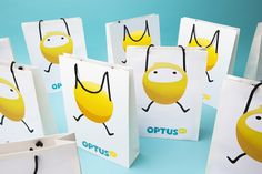 Optus Rebrand by Jason Little, via Behance