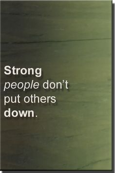 Stong people. Quote