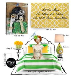 """""""Let Her Sleep..."""" by scarletj17 on Polyvore featuring interior, interiors, interior design, home, home decor, interior decorating, Kate Spade, All the Rages, Dot & Bo and iCanvas"""