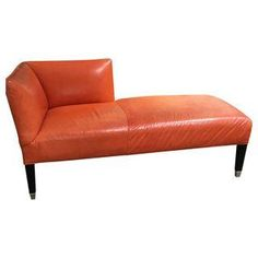 Williams Sonoma Home Persimmon Leather Chaise