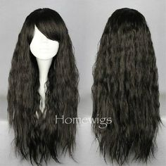 Long Black wigs cosplay wigs japanese harajuku lolita by Homewigs, $16.99 And this for Jayne