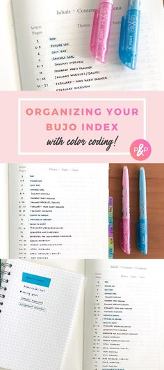 How to Organize Your Bullet Journal Index with Color Coding