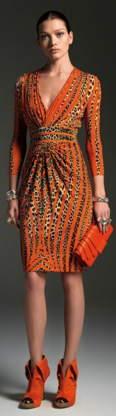 Orange and coral / Karen Cox. Blumarine Fall Winter 2012-13 Main Collection