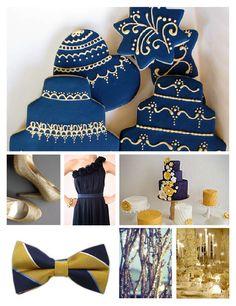 Navy and Gold wedding  Oregon Tech  @Four Seasons Bridal