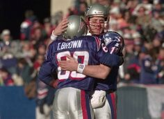 On this day in 1993: The Patriots took QB Drew Bledsoe first overall in the 1993 NFL Draft! 04/25/14. Drew and Troy Brown.