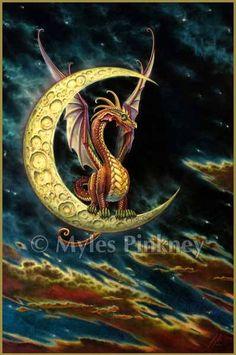 Myles Pinkney Online Gallery - Moon Dragon