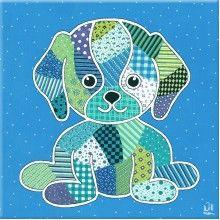 http://kinderkamerkadootje.nl/kinderkamer-schilderij-hond-blauw