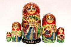 Russian Matryoshka 5p Balalaika beautiful handmade by EtsyGrail