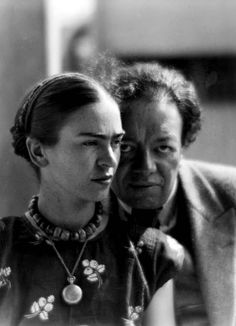 anarquismos:  Frida Kahlo et Diego Rivera by Martin Munkacsi (1930)