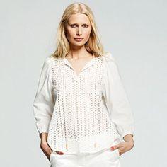 Peter Som for DesigNation Solid Eyelet Tunic #White #Summer