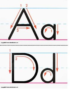 Free UPPER AND LOWERCASE LETTER FORMATION WRITING GUIDE KINDERGARTEN COMMON CORE - TeachersPayTeachers.com