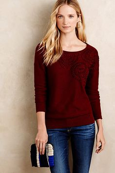 Abstract Roses Pullover - anthropologie.com