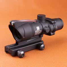 Trijicon ACOG 4X32 Fiber Source Red Illuminated Scope w RMR Micro Red Dot Tactical Hunting Riflescope