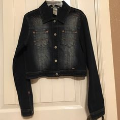 Jean jacket Super cute Jean cutoff jacket. never worn. In excellent condition Limited Too Jackets & Coats Jean Jackets