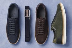 Blue, dark brown or green? Create a multitude of casual looks with a pair of Ermenegildo Zegna sneakers #accessories #menswear #shoes