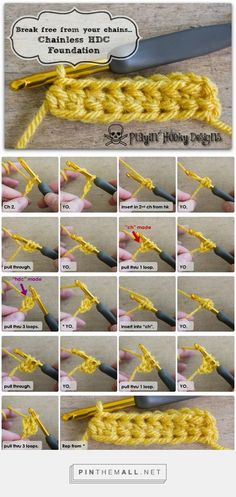 Awesome in every way! Chainless Half-Double Foundation Method Break free from your chains! Source: playin hooky designs