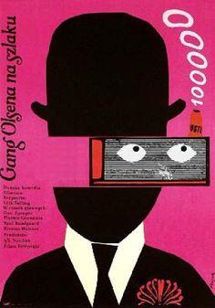 Title: Gang Olsena na Szlaku [Olsen's Gang]  Film: Denmark  Designer: J.Flisak   Year: 1977  Size: 84X58cm