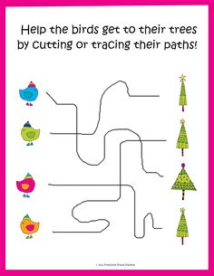 Preschool Powol Packets: {FREE} Christmas Tracing / Cutting Practice!!