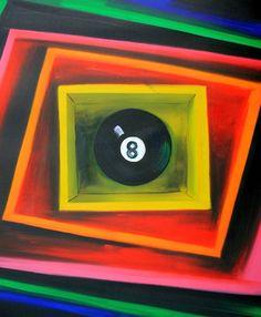 La magica palla otto   Misure: 50x60