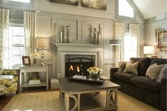 Cottage/Country Living Room Design Photo by Kandrac [AMP] Kole Interior Designs