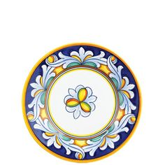 VIETRI -  Umbria Ornato Salad Plate: Mix 3 place settings of Deruta, Medici, Pavone and Ornato for a total of 12 place settings.