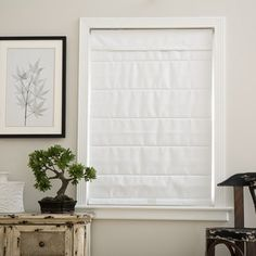 Cloud White Cordless Fabric Roman Blackout Shade - 17614657 - Overstock - Great Deals on Arlo Blinds Blinds & Shades - Mobile