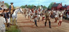 Colonial volunteers to the front, American War of Independence
