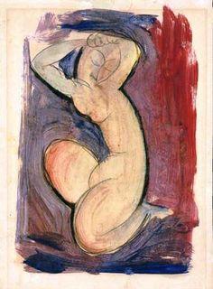 Red Caryatid (1913), tempera on paper