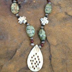 Fancy Jasper Necklace. $47.00, via Etsy.  (The designer/jeweler is a Washington, KS gal!)