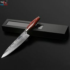 FINDKING новый 8 дюймов дамаск нож шеф-повара нож дамасская сталь лезвия цвет деревянной ручкой формы камень 71 слоев дамасской стали