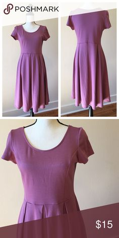 Pleated mauve skater dress Great condition no stains or tears Dresses