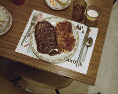 Stephen Shore, Hamburger steak dinner, Redfield, SD, July 13, 1973