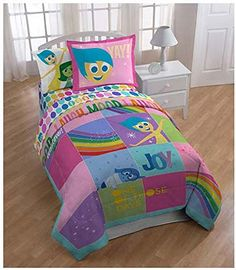 "Disney/Pixar Inside Out ""Rainbow Patchwork"" Comforter, Twin"