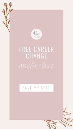 How To Plan, Design and Launch Your Dream Career or Business WITHOUT Wasting Time or Money My goal for you is that you will know the exact steps you need to go from work you HAVE to do...to work you LOVE to do.