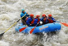 White water rafting with Echo Canyon.