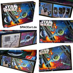 Star Wars: Imperial TIE Fighter Diorama » Typ: Modell-Bausatz » Hersteller: AMT/ERTL » https://spaceart.de/produkte/sw053.php