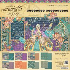 Graphic 45 - Midnight masquerade 20x20 | Midnight masquerade | Scrappapier