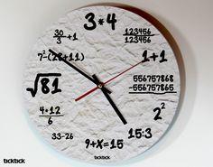"Wanduhr ""Nerd"" // clock by heyhey via DaWanda.com"