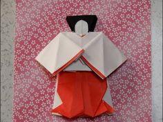 """折り紙のお雛様 三人官女(立っている官女)の折り方作り方 前半 """" Hina Doll """" Origami - YouTube Origami, Boys Day, Diy And Crafts, Journal, Decoration, Youtube, Characters, Saints, Hipster Stuff"""