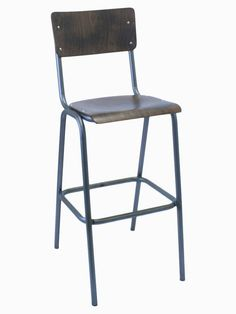 Horeca kruk - Oldschool - Hout - Staal (€ 79,00)   Horeca World Outdoor Chairs, Outdoor Furniture, Outdoor Decor, Bar Stools, Nautilus, Interior, Home Decor, Ideas, Banquettes