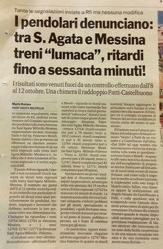 I Pendolari e le Infrastrutture in Sicilia: Comitato Pendolari Sant'Agata Militello e le richi...