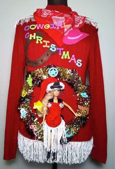 AWESOME Ugly Christmas Sweater Cowgirl Christmas Country by stealofadeal, $39.95